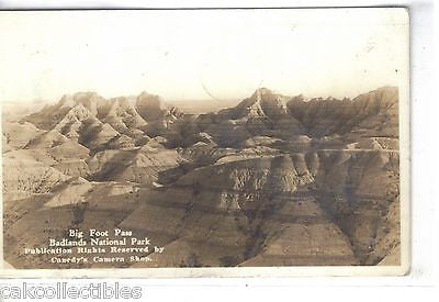 Big Foot Pass-Balands National Park-South Dakota 1937 - Cakcollectibles