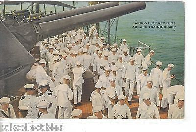 Arrival of Recruits Aboard Training Ship-Military - Cakcollectibles