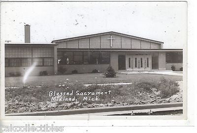 RPPC-Blessed Sacrament-Midland,Michigan - Cakcollectibles - 1