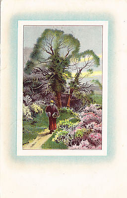 Walking On Path Postcard - Cakcollectibles
