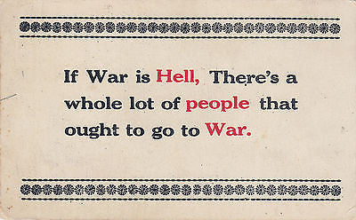 If War Is Hell Quote Postcard - Cakcollectibles