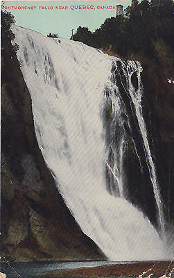 Montmorency Falls Near Quebec, Canada Postcard - Cakcollectibles - 1