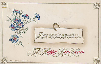 A Happy New Year John Winsch Postcard - Cakcollectibles