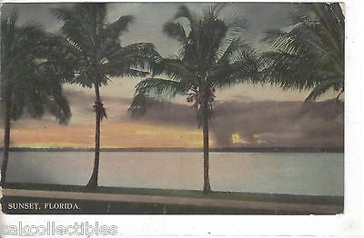 Early Post Card-Sunset in Florida - Cakcollectibles
