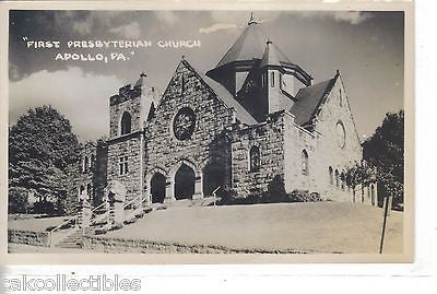 RPPC-First Presbyterian Church-Apollo,Pennsylvania - Cakcollectibles - 1