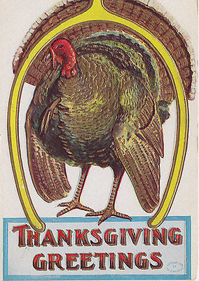 Huge Thanksgiving Greetings From One Big Turkey Postcard - Cakcollectibles - 1