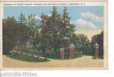 Entrance to Sleepy Hollow Cemetery & Old Dutch Church-Tarrytown,New York - Cakcollectibles