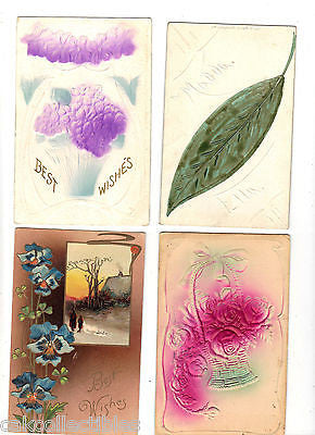 Lot of 4 Antique Greetings Post Cards-Lot 62 - Cakcollectibles - 1