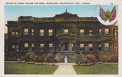 Hiram Walker & Sons Offices - Ontario, Canada - Postcard - Cakcollectibles - 1