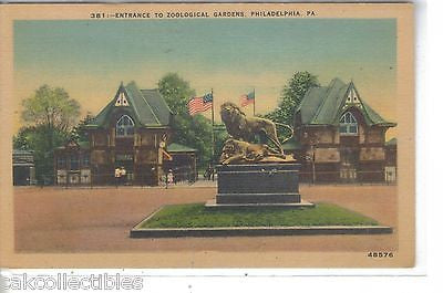Entrance to Zoological Gardens-Philadelphia,Pennsylvania - Cakcollectibles