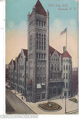 City Hall-Syracuse,New York 1911 - Cakcollectibles