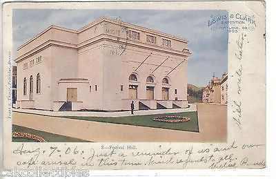 Festival Hall,Lewis & Clark Exposition-Portland,Oregon 1906 - Cakcollectibles - 1