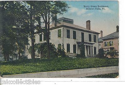 Hetty Green Residence-Bellows Falls,Vermont - Cakcollectibles