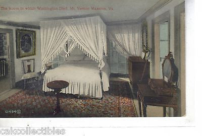 The Room in Which Washington Died-Mt. Vernonr Mansion-Virginia - Cakcollectibles