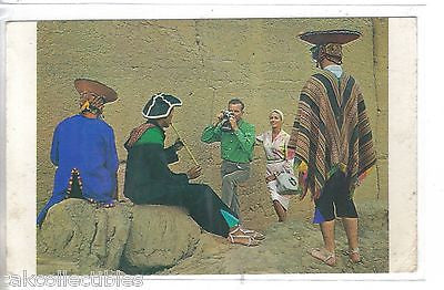 Peru-At The Pre-Inca Ruins of Cuzco (Panagra Jet Sky Card) - Cakcollectibles