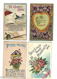 Lot of 4 Antique Greetings Post Cards-Lot 61 - Cakcollectibles - 1