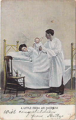 A Little Fresh Air(heir) Congratulations Postcard - Cakcollectibles