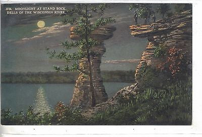 Moonlight at Stand Rock-Dells of The Wisconsin River-Wisconsin - Cakcollectibles