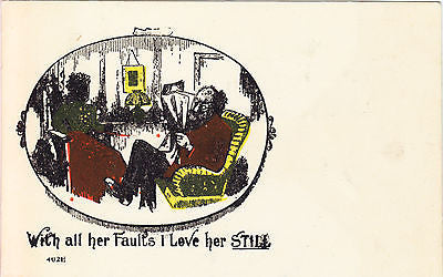 With All Her Faults Comic Postcard - Cakcollectibles