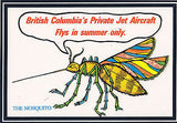 """The Mosquito"" British Columbia's Private Jet Aircraft Postcard - Cakcollectibles - 1"