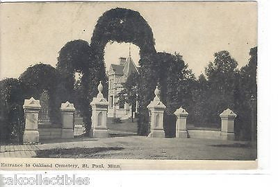 Entrance to Oakland Cemetery-St. Paul,Minnesota - Cakcollectibles