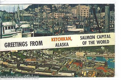Greetings from Ketchikan,Alaska -Salmon Capital of The World 1963 - Cakcollectibles