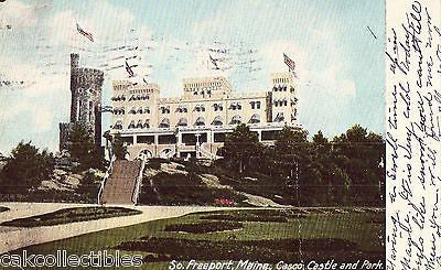 Casco Castle and Park-South Freeport,Maine 1907 - Cakcollectibles