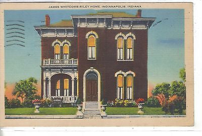 James Whitcomb Riley Home-Indianapolis,Indiana 1945 - Cakcollectibles