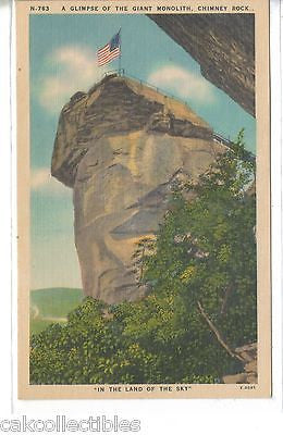 A Glimpse of The Giant Monolith,Chimney Rock-North Carolina - Cakcollectibles