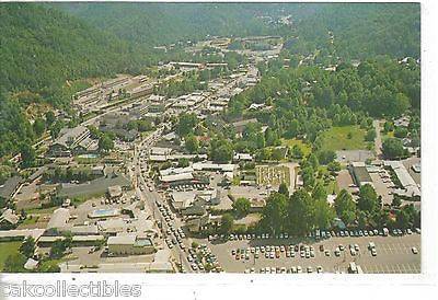 Aerial View of Gatlinburg,Tennessee at Entrance to Smoky Mts. National Park 1969 - Cakcollectibles