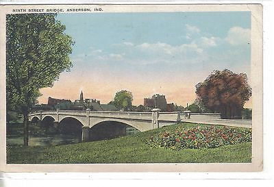 Ninth Street Bridge-Anderson,Indiana 1927 - Cakcollectibles