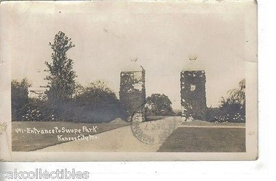 RPPC_Entrance to Swope Park-Kansas City,Missouri 1910 - Cakcollectibles - 1