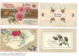Lot of 4 Antique Birthday Post Cards-Lot 54 - Cakcollectibles - 1