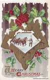 """A Merry Christmas"" Horses-Snow John Winsch Postcard - Cakcollectibles - 1"