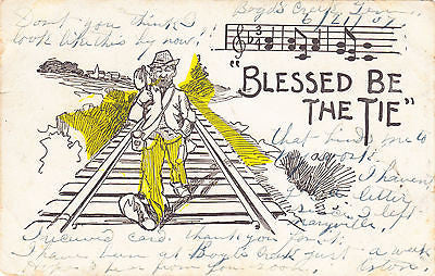 """ Blessed Be The Tie "" Comic Postcard - Cakcollectibles"