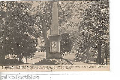 British Monument-Concord,Massachusetts - Cakcollectibles