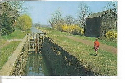 Canal Lock at Uhlerstown, Bucks County, Pennsylvania - Cakcollectibles