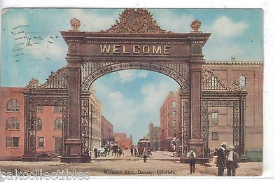 Welcome Arch-Denver,Colorado 1908 - Cakcollectibles