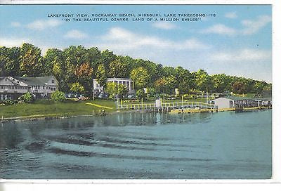 Lakefront View,Rockaway Beach,Missouri-Lake Taneycomo - Cakcollectibles