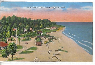 Beach Tourist Camp-Port Huron,Michigan 1952 - Cakcollectibles