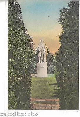 """Ash Lawn"",Statue of President James Monroe-Charlottesville,Va (Hand Colored) - Cakcollectibles"