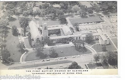Aerial View-The First Baptist Church of Cleveland-Ohio - Cakcollectibles