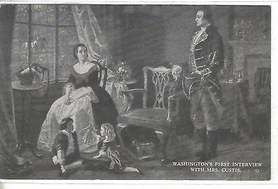 Washington's First Interview with Mrs. Custis - Cakcollectibles