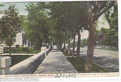 Ewing Street,Looking North-Helena,Montana 1907 - Cakcollectibles