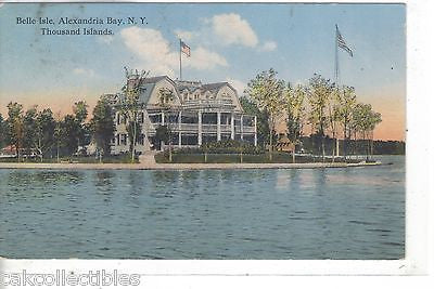 Belle Isle,Alexandria Bay,New York (Thousand Islands) 1916 - Cakcollectibles