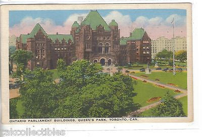 Ontario Parliament Buildings,Queen's Park-Toronto,Canada 1942 - Cakcollectibles