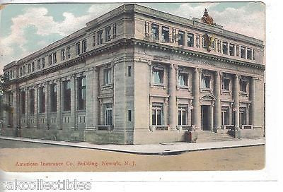 American Insurance Company Building-Newark,New Jersey 1908 - Cakcollectibles