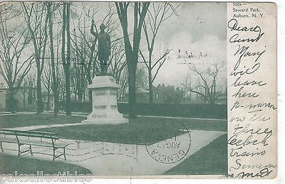 Statue in Seward Park-Auburn,New York 1907 - Cakcollectibles