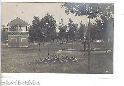 RPPC-Fountain in A Park-Thompsonville,Michigan ? 1908 - Cakcollectibles - 1