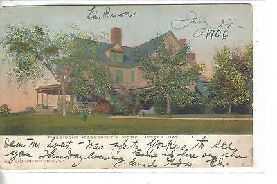 President Roosevelt's Home-Oyster Bay,Long Island,New York 1906 - Cakcollectibles